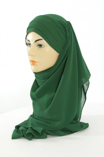 Hijab easy style ready to wear - Dark green pas cher & discount