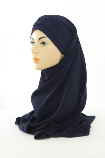 Hijab easy style ready to wear - Dark blue pas cher & discount