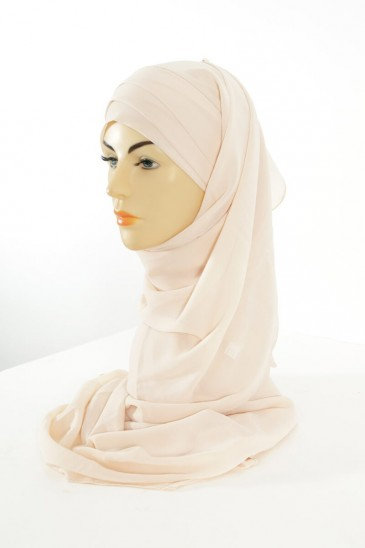 Hijab easy style ready to wear - beige pas cher & discount