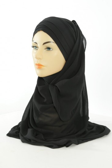 Hijab easy style ready to wear - Dark pas cher & discount