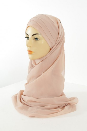 Hijab easy style ready to wear - nude pas cher & discount