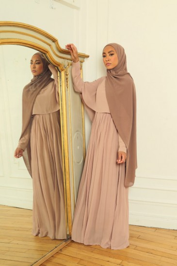 Dress Amira Taupe color pas cher & discount