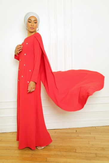 Dress Amjaad Red pas cher & discount