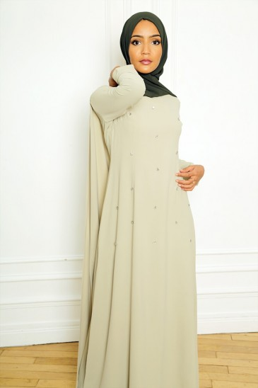 Dress Amjaad Pastel Green pas cher & discount