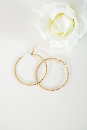 Earrings Creole gold color pas cher & discount