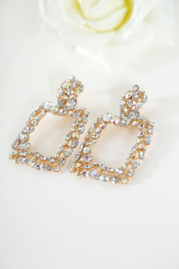 Earrings Eglantine gold color pas cher & discount