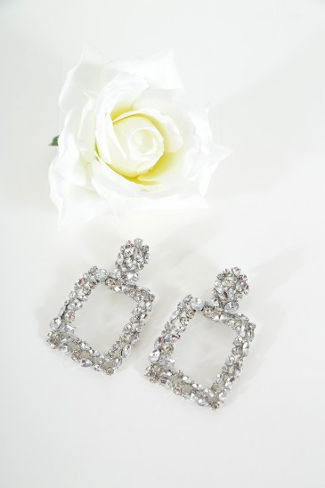 Earrings Eglantine silver color pas cher & discount