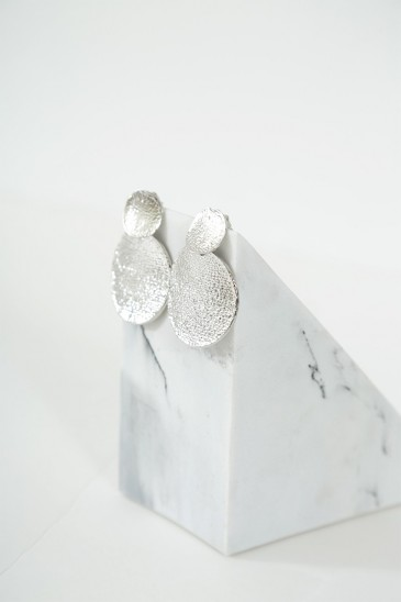 Earrings Miranda silver color pas cher & discount