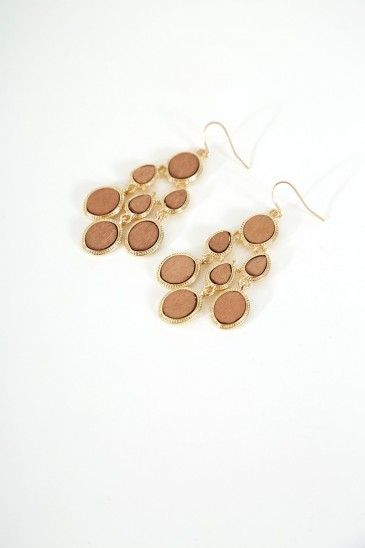 Earrings Dias gold brown color pas cher & discount