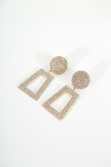 Earrings darling gold color pas cher & discount