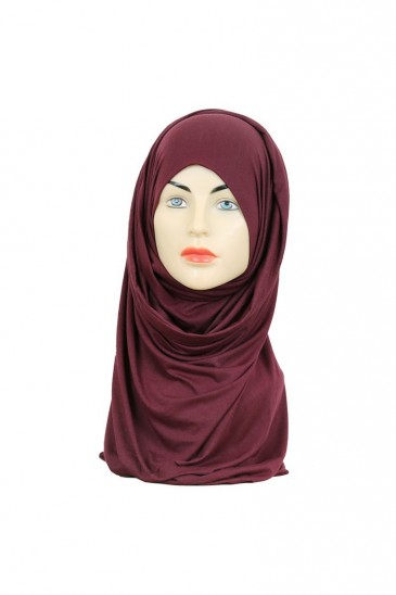 Hijeb maxi stretch burgundy pas cher & discount