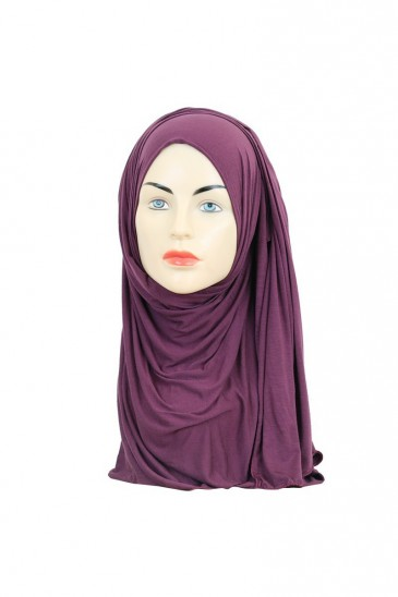 Hijab maxi stretch purple pas cher & discount