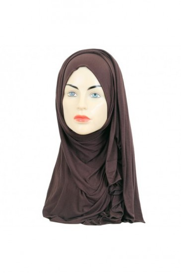 Hijab maxi stretch brown pas cher & discount