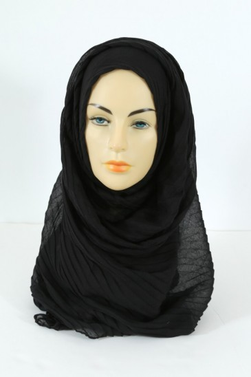 Hijab Tourbillon - Black color pas cher & discount