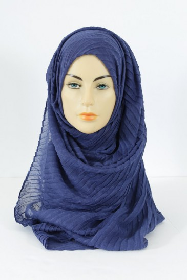 Hijab Tourbillon - indigo blue color pas cher & discount