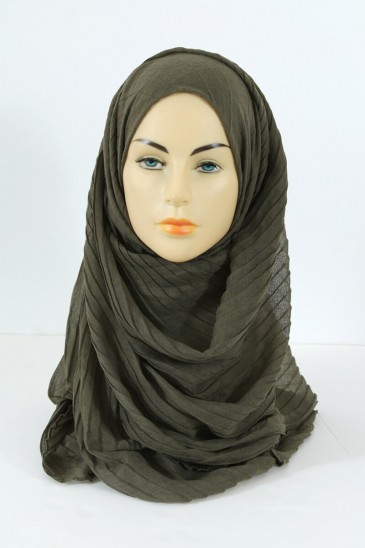 Hijab Tourbillon - khaki color pas cher & discount