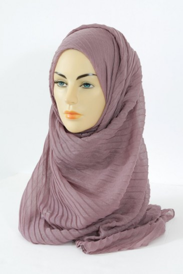 Hijab Tourbillon - parme color pas cher & discount