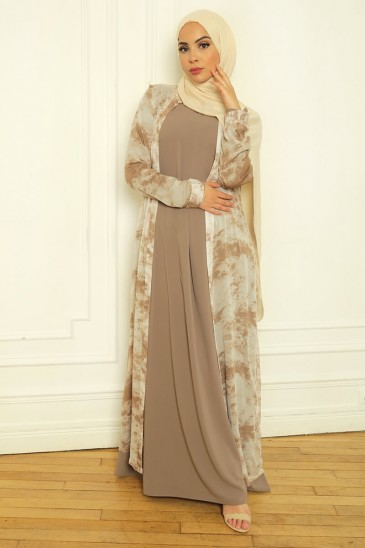Dress Aysé Taupe pas cher & discount