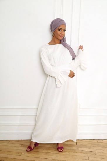 Dress Sahel white pas cher & discount