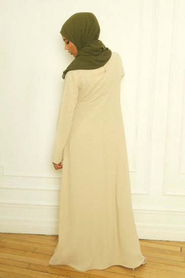 Aysé Dress Beige Color pas cher & discount