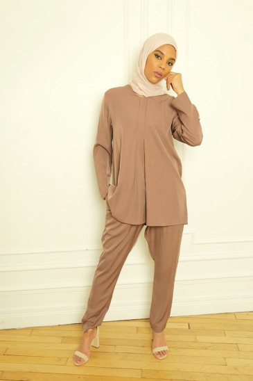 Outfit Basic Louna brown pas cher & discount