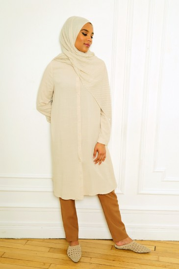 Tunic Lynsee beige pas cher & discount
