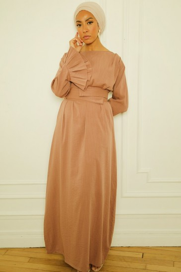 Dress Sahel Ice brown pas cher & discount