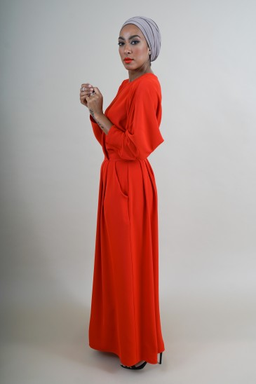 Robe Malone Rouge Mystère pas cher & discount