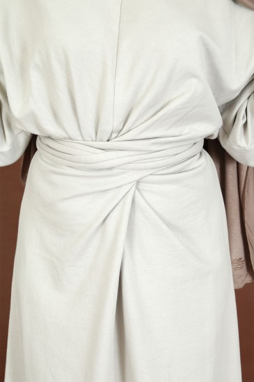 Robe à noeud Nyna Beige pas cher & discount