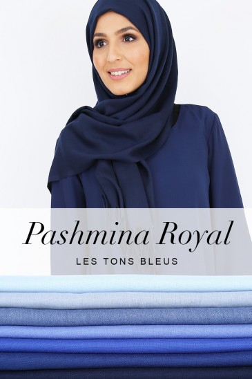 Royal Pashmina -Blue tones - pas cher & discount
