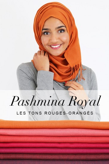 Royal Pashmina - Red Orange tones - pas cher & discount