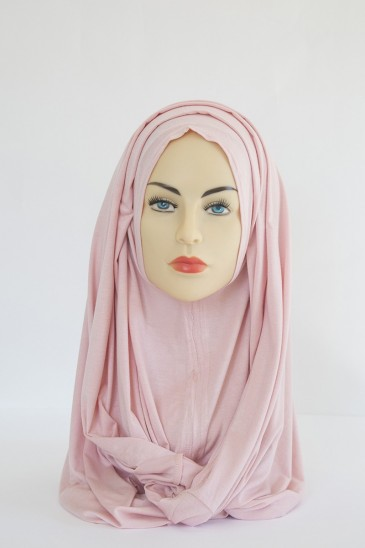 Scarf-Cap Snood Hair Covering pink color pas cher & discount